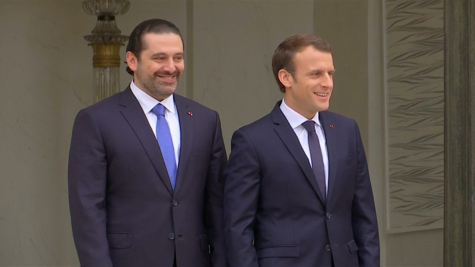 former-lebanon-prime-minister-meets-with-president-macron-in-france-following-hostage-rumours