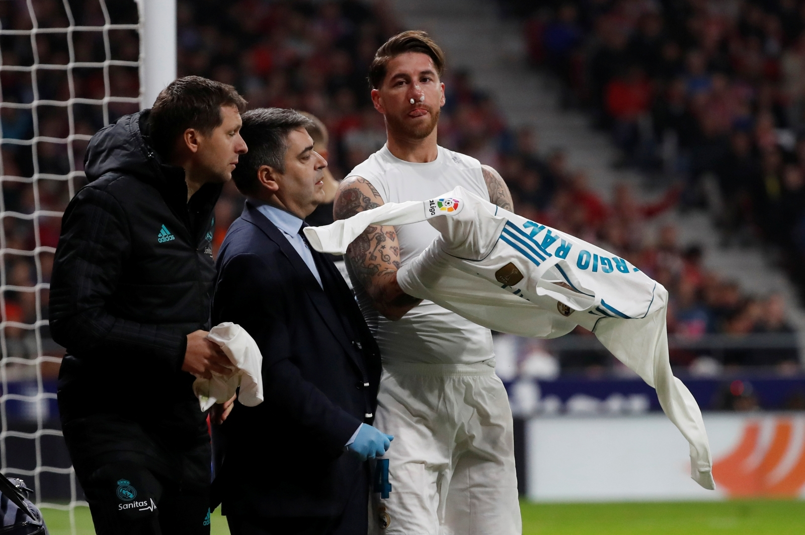 Real Madrid confirm Sergio Ramos nose break