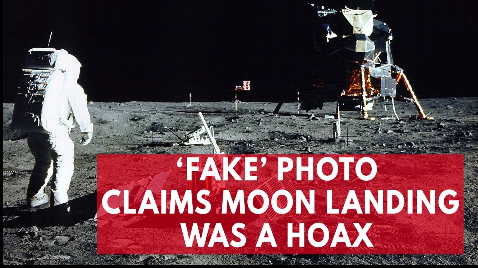 'Fake' photo continues conspiracy that the moon landing was a hoax