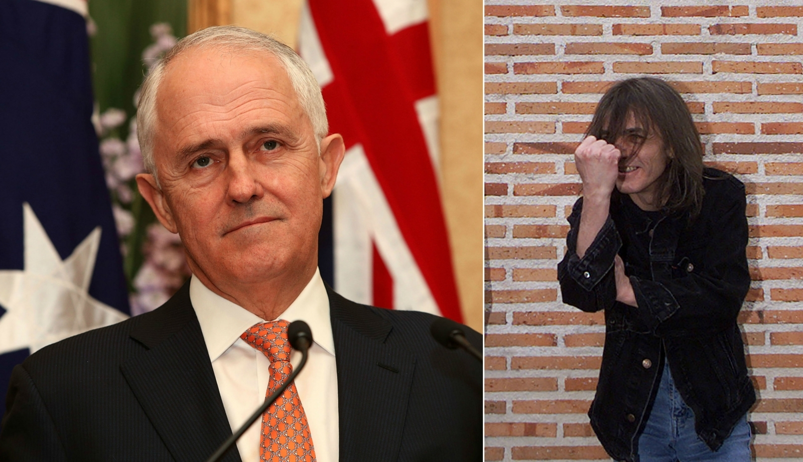 Malcolm Turnbull and Malcolm Young