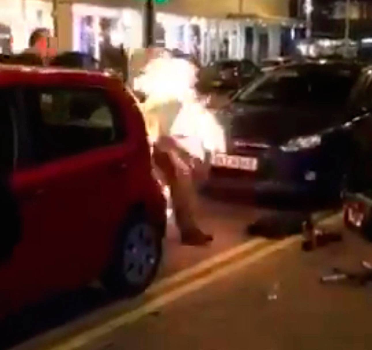 Steven Logan, known as Logy on Fire, accidently turned himself into a human torch on Belfast High Street