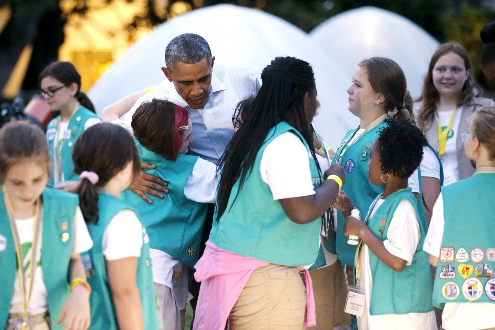 Girl Scouts Obama
