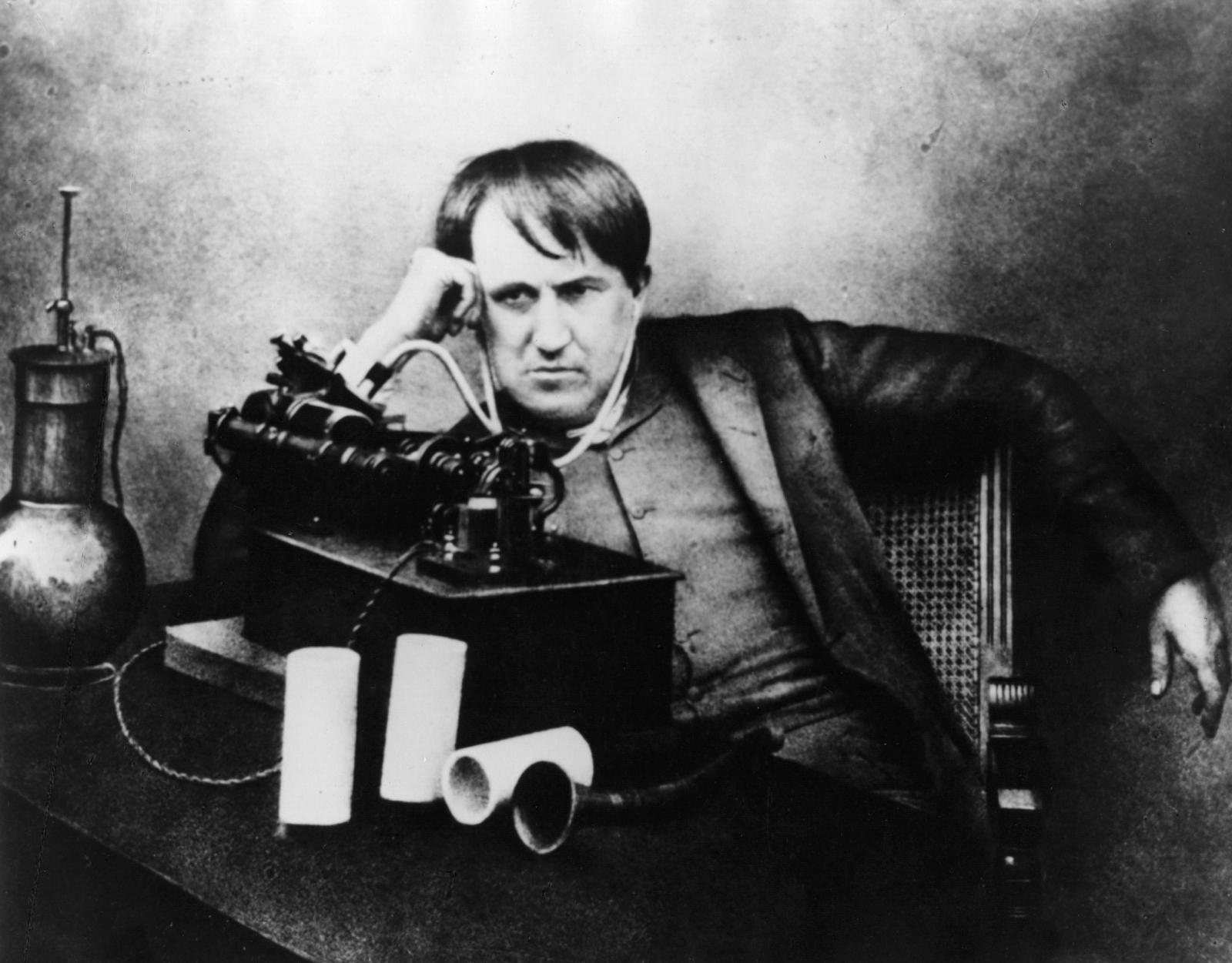 Thomas Edison and the phonograph