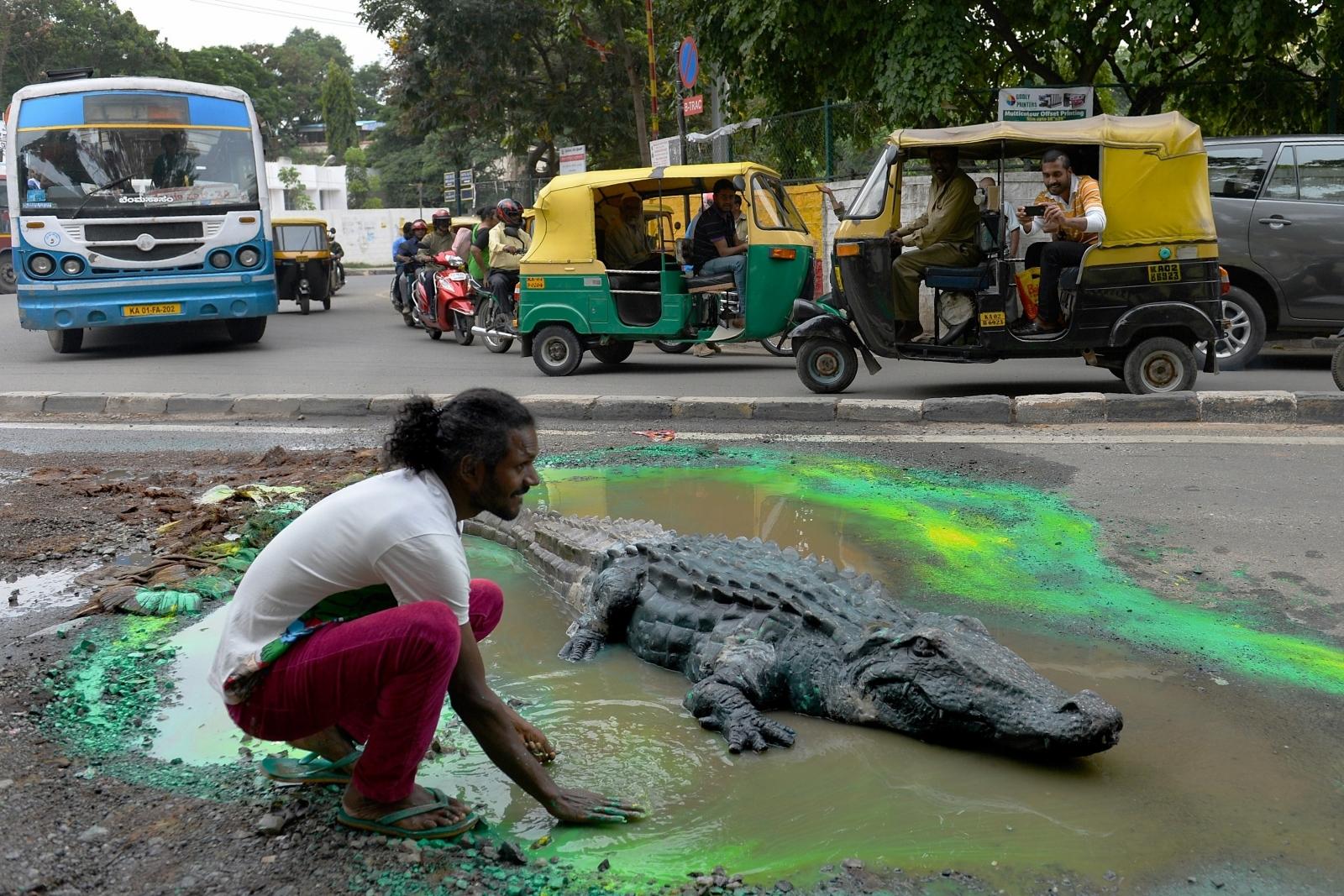 Bangalore potholes