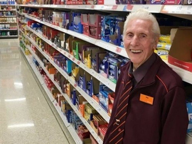 Reg Buttress, believed to be Britain's oldest shop, worker has died aged 94 – two months after retiring