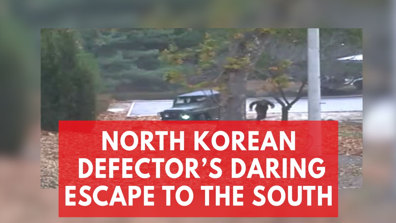 Dramatic Footage Shows the Moment North Korean Defector Escapes to the South