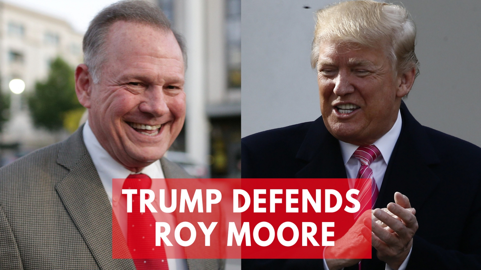Trump defends Roy Moore: 'He totally denies It'