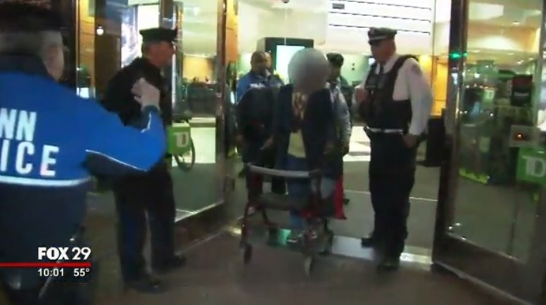 86-year-old woman alleged bank robbery