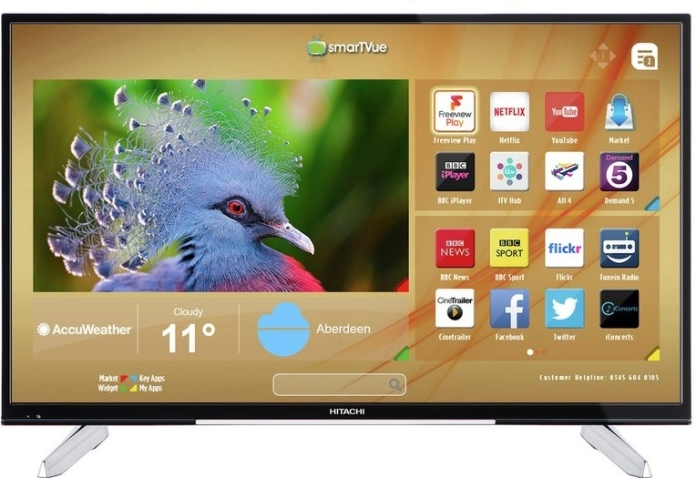 Hitachi 43 Inch 4K Ultra HD Smart LED TV