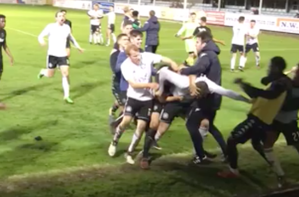 A friendly between Leeds United Under-23s and Welsh side Rhyl was abandoned after a mass brawl broke out between the players