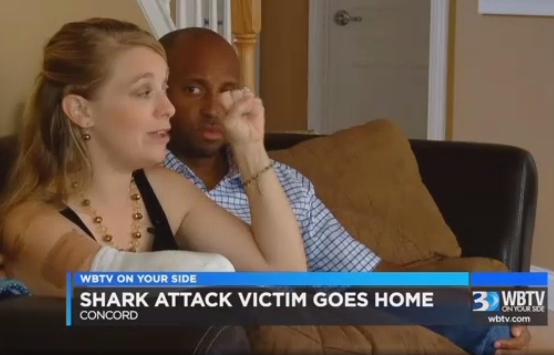 Shark attack survivor speaks