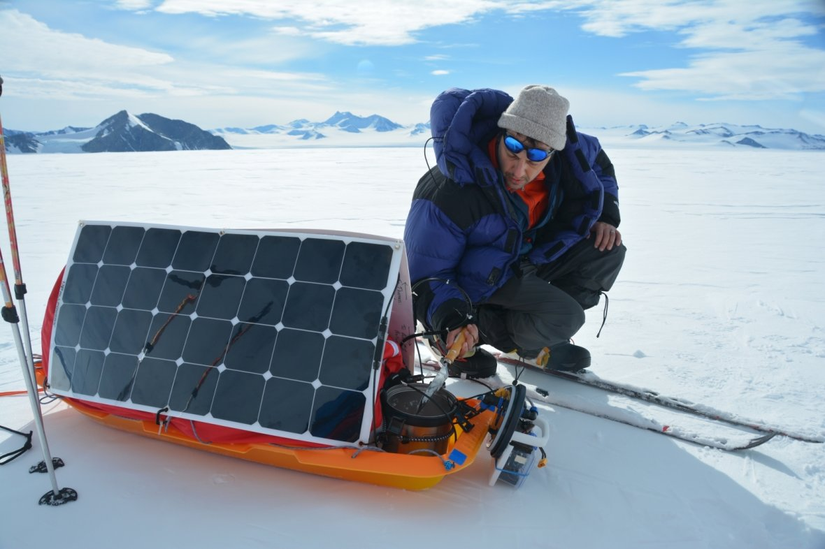 Solar power sled