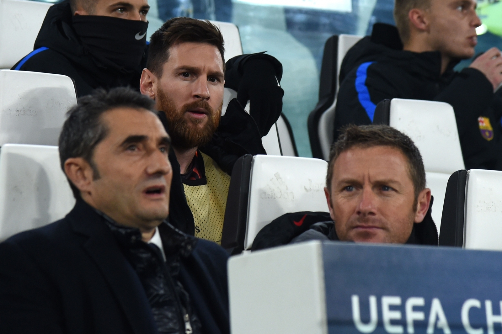 Lionel Messi and Ernesto Valverde