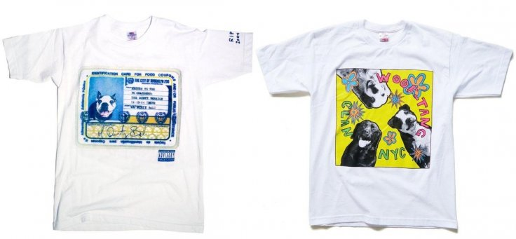 The Woof-Tang Clan's website had sold T-shirts with dogs inserted in iconic rap albums