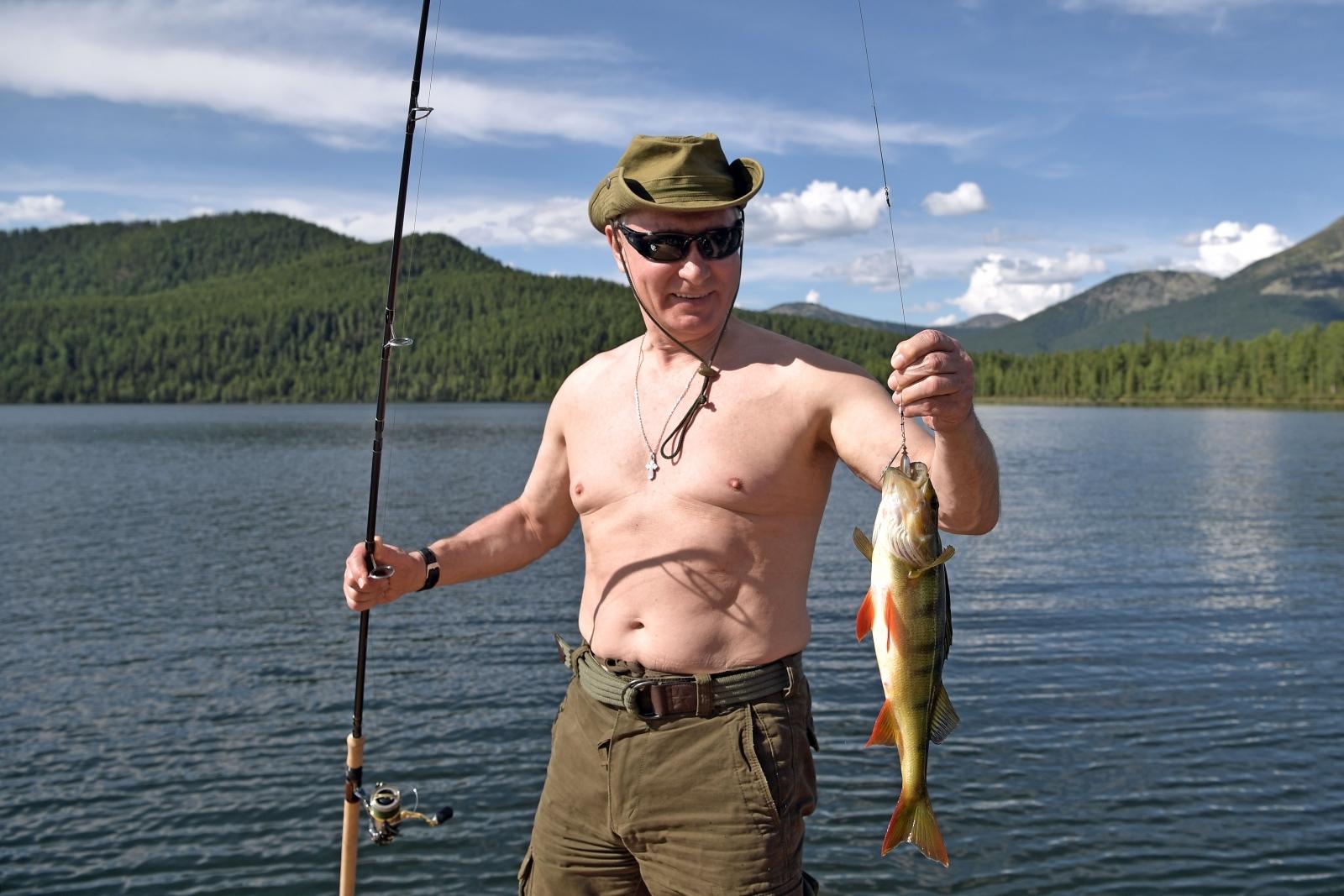 Vladimir Putin fishing