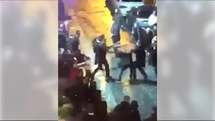 Liverpool brawl concert square