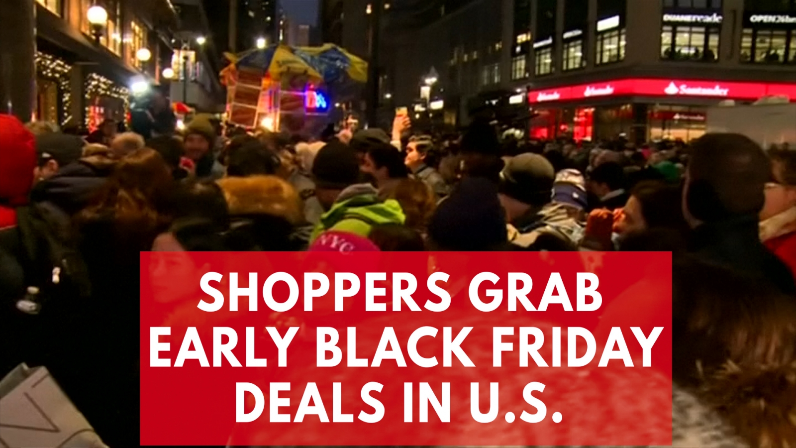 Black Friday 2017: Hundreds of shoppers rush to grab early deals in New York