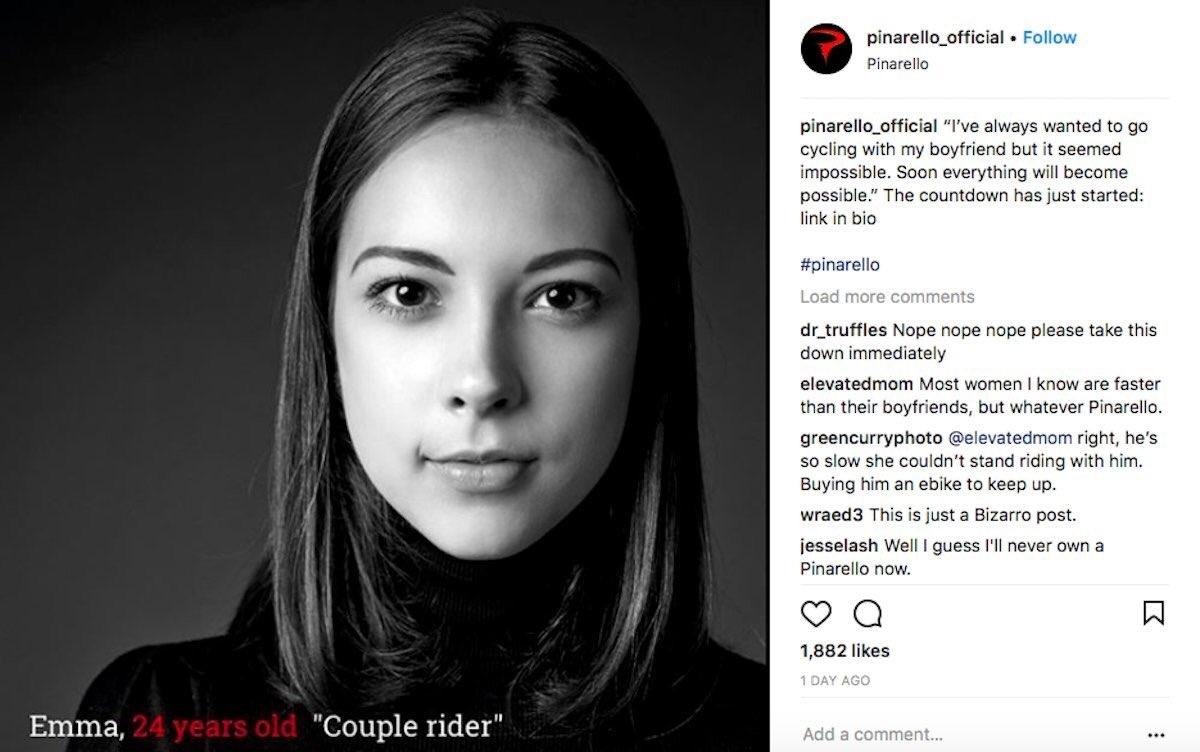 Sexist Pinarello advertisement