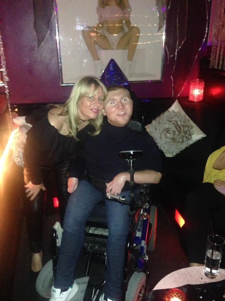 Harry Butler at strip club