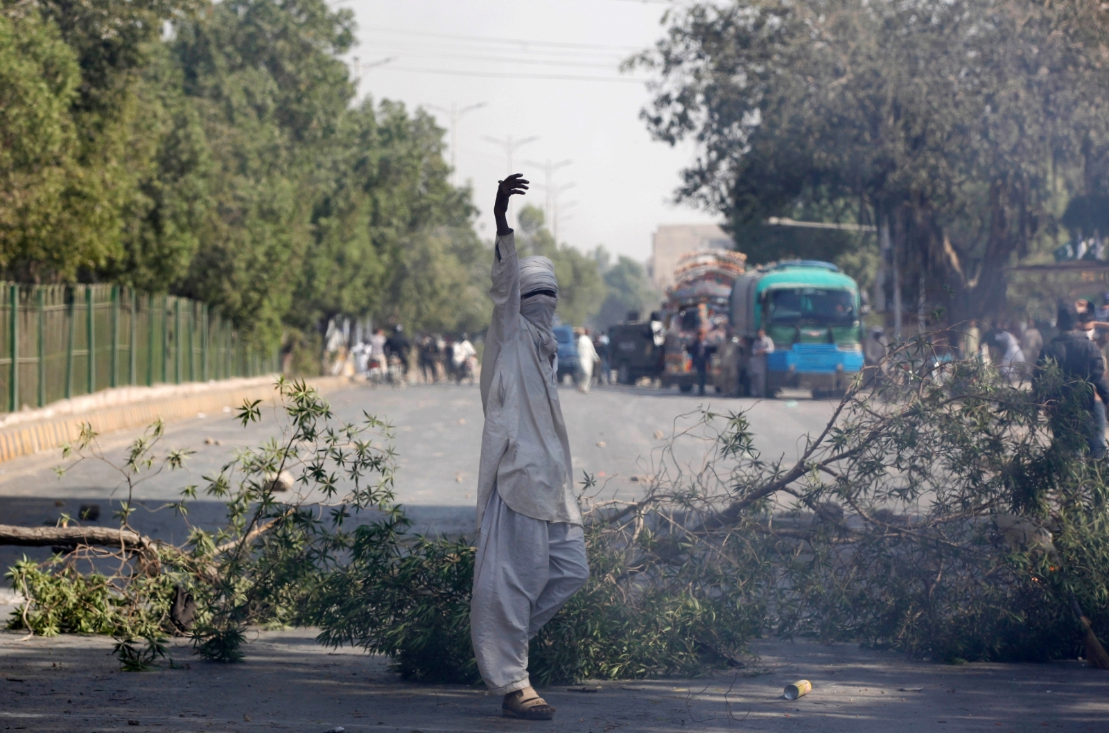 Pakistan's Police Act Against Islamist Party's Protest
