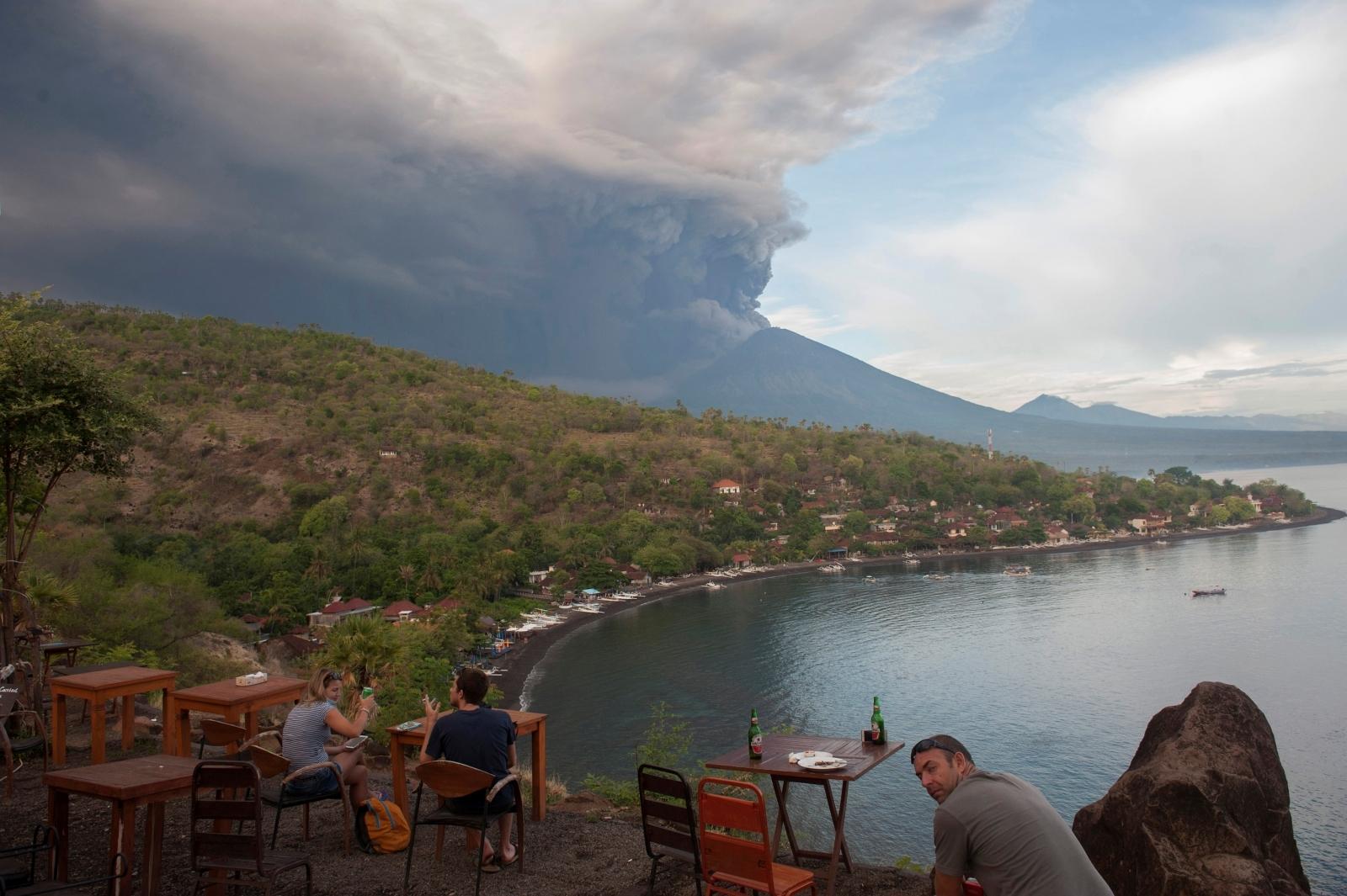 Mount Agung volcano, Bali