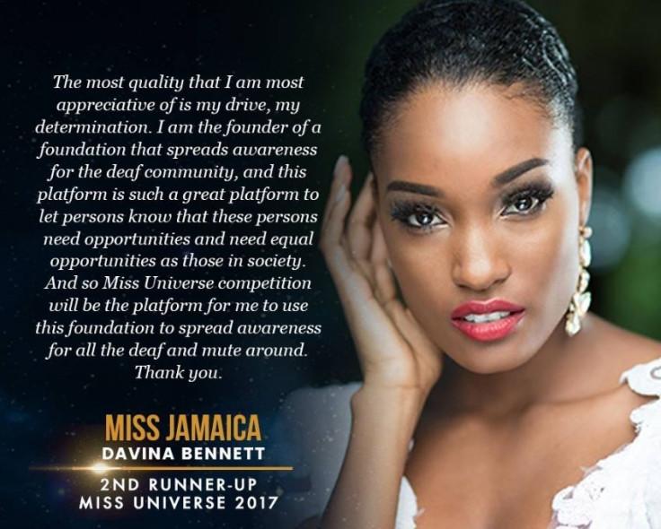 Miss Jamaica Davina Bennett