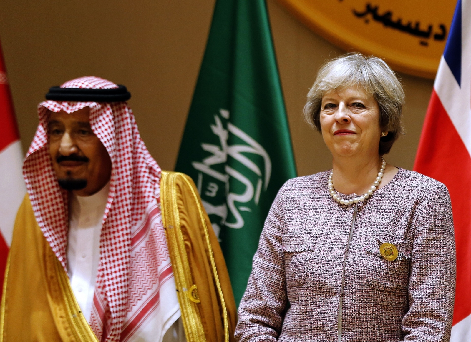King Salman Theresa May