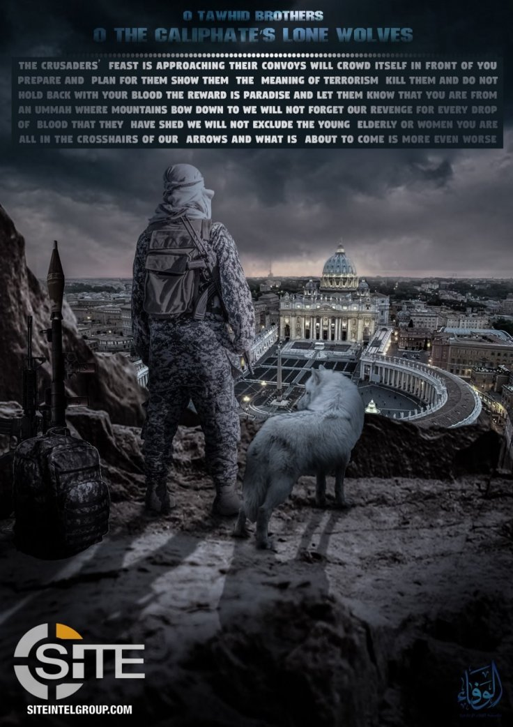 The chilling new poster that urges a jihadist attack on the Vatican, circulated online by the pro-ISIS Wafa media group