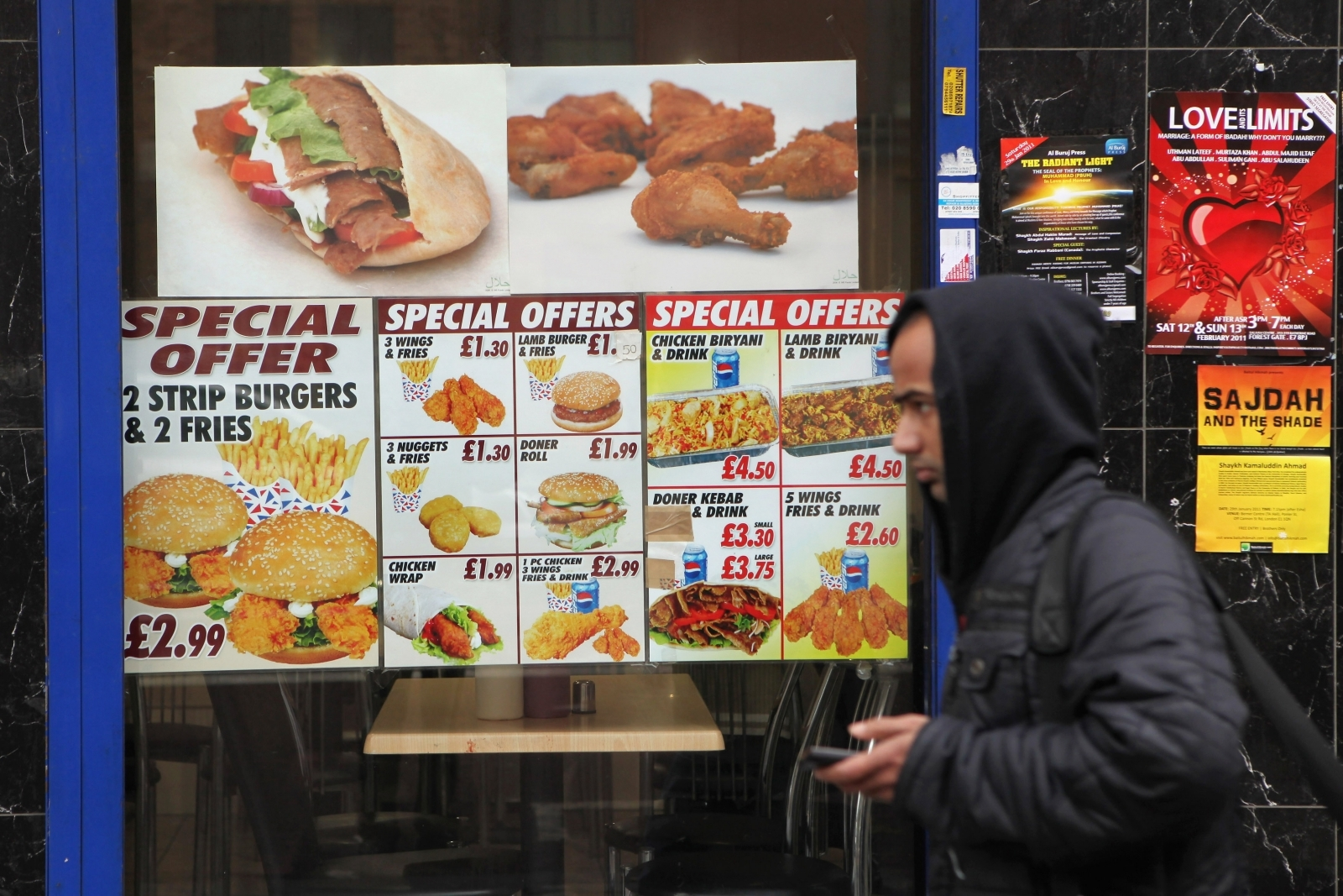 London fast food