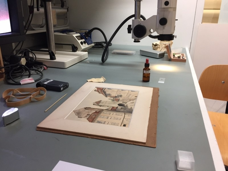 Adolf Hitler painting being authenticated