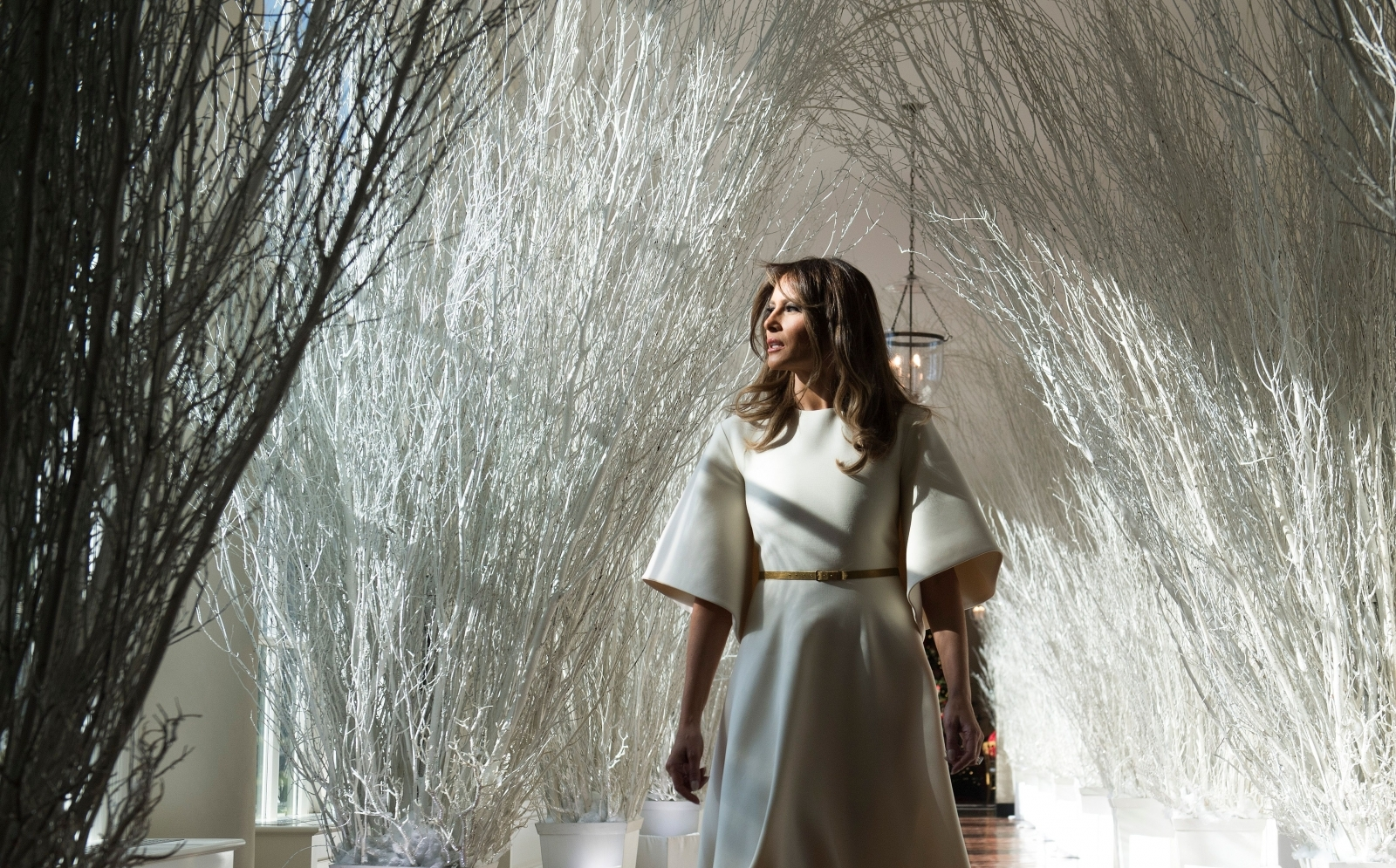 Melania Trump's Christmas decorations include hallway with 'super creepy funeral' vibe
