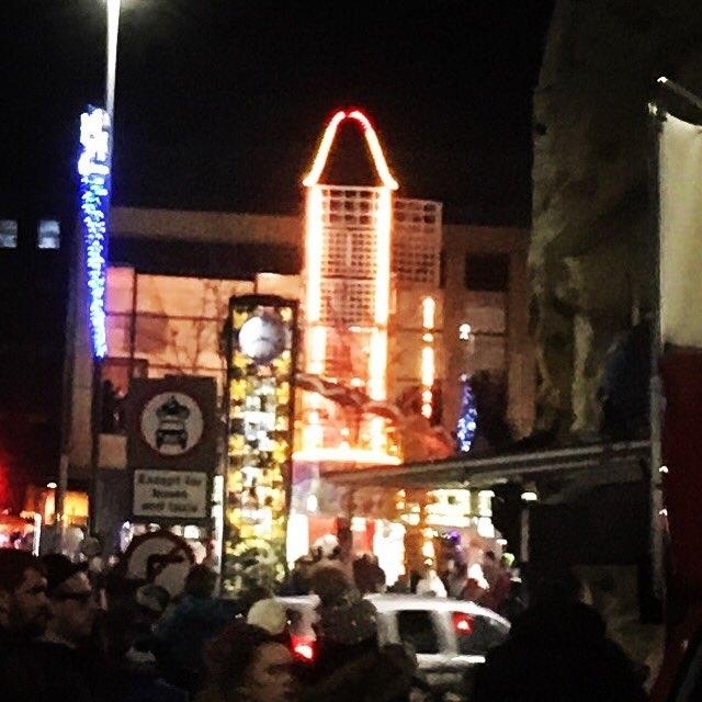 Phallic Christmas lights