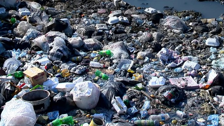 Plastic waste in Haiti