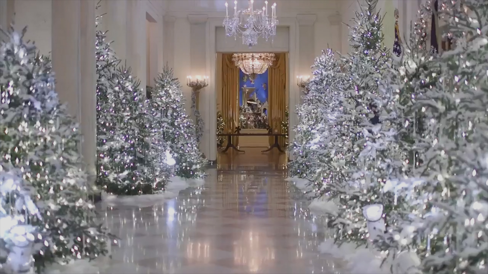 'Terrifying': Melania Trump trolled over 'nightmarish' Christmas decorations  at White House