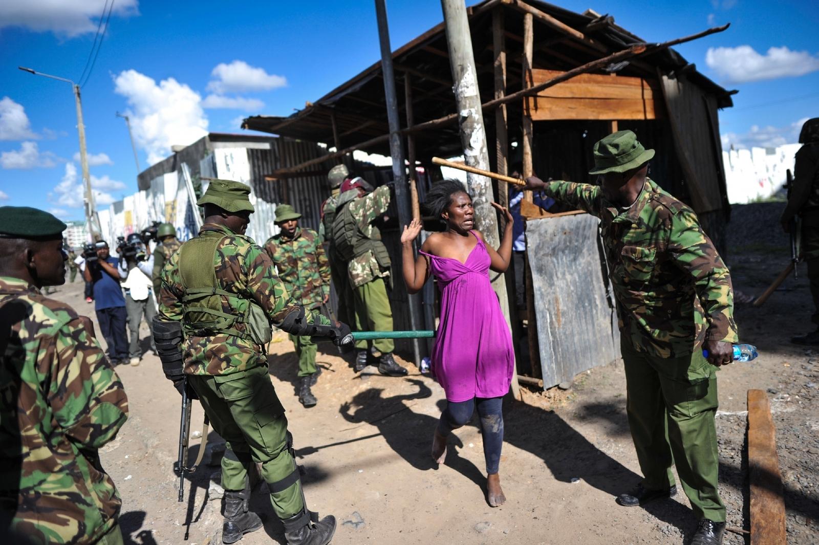 Kenya Uhuru Kenyatta inauguration protests