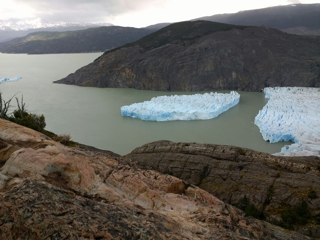 A Large Iceberg Broke from the Gray Glacier near Chile