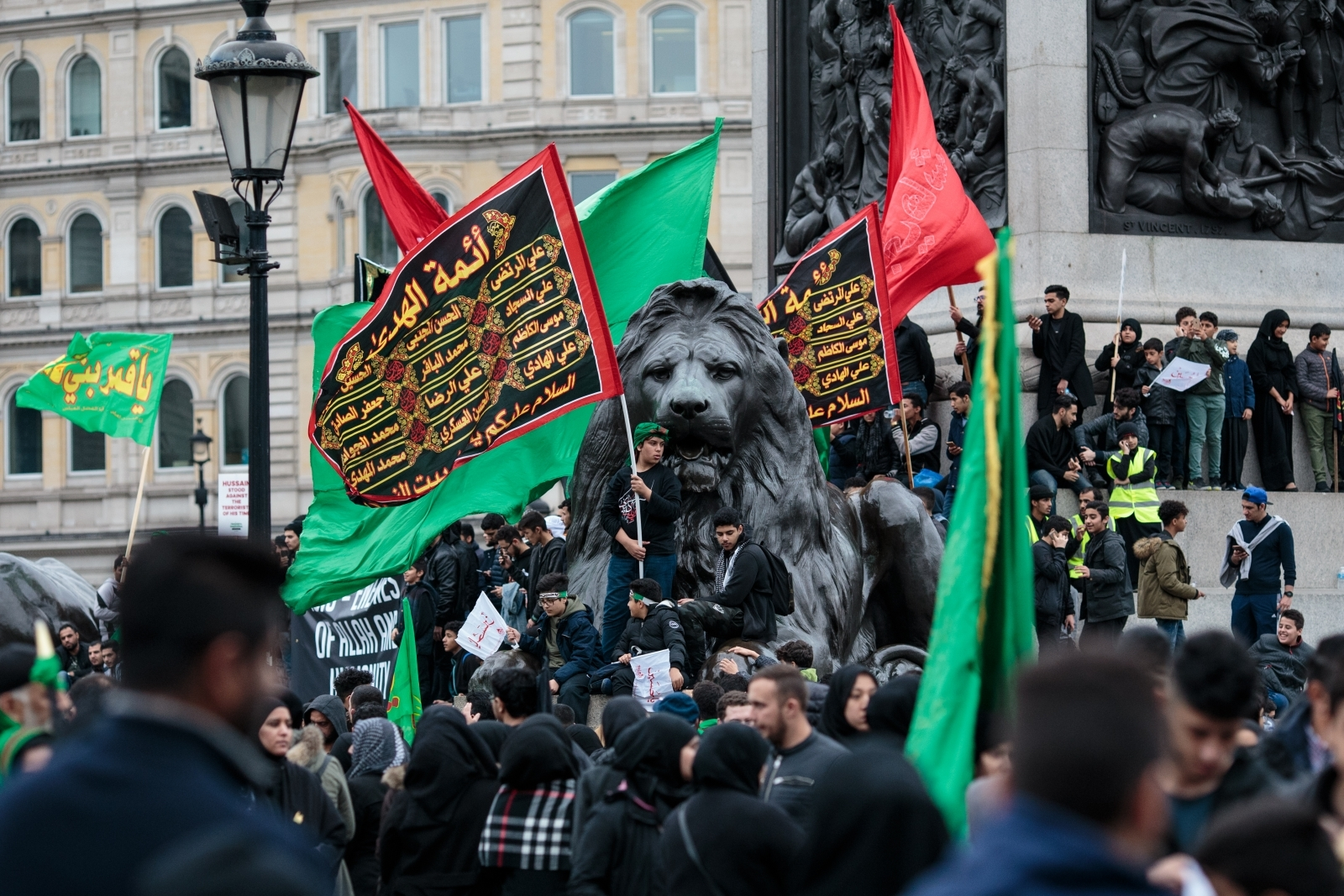 Muslims anti-Isis protest, London
