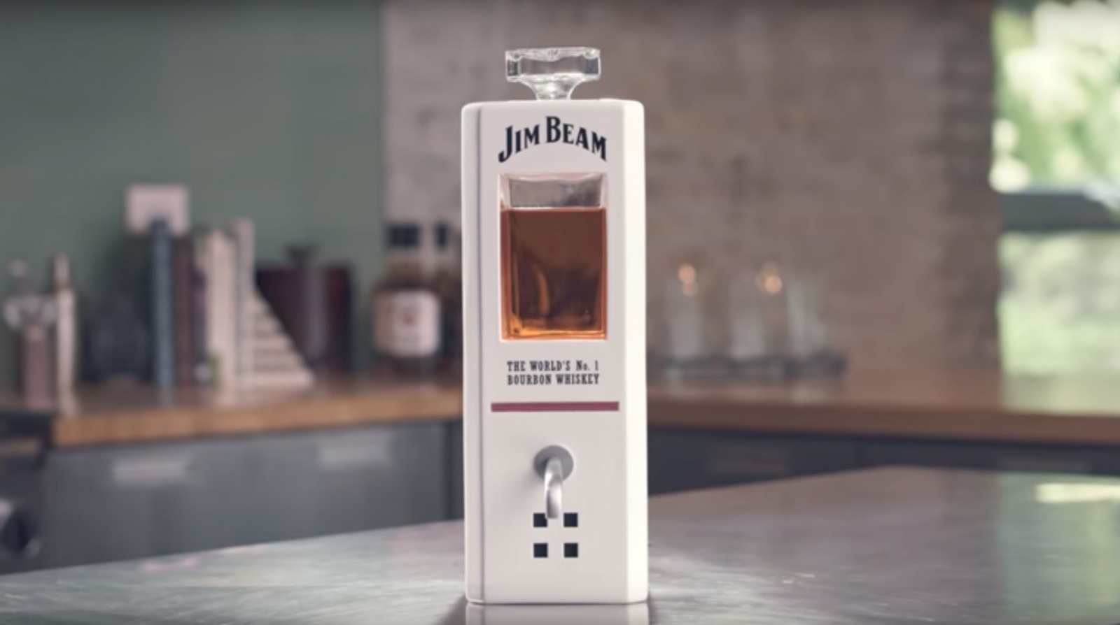 Jim Beam introduces its limited smart decanter for the holidays