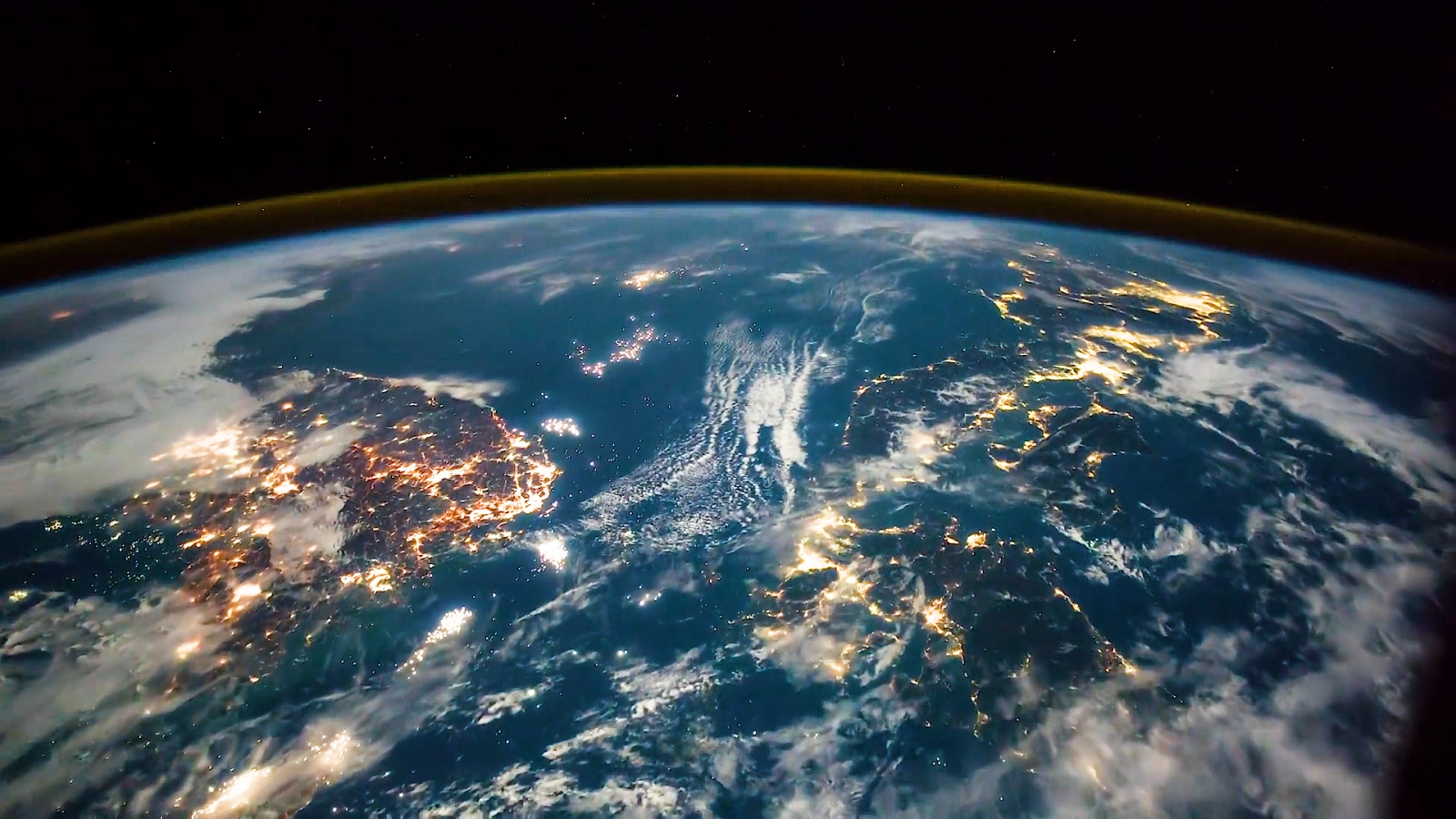 Incredible View Of Earth From ISS Shows Lightning And City Lights