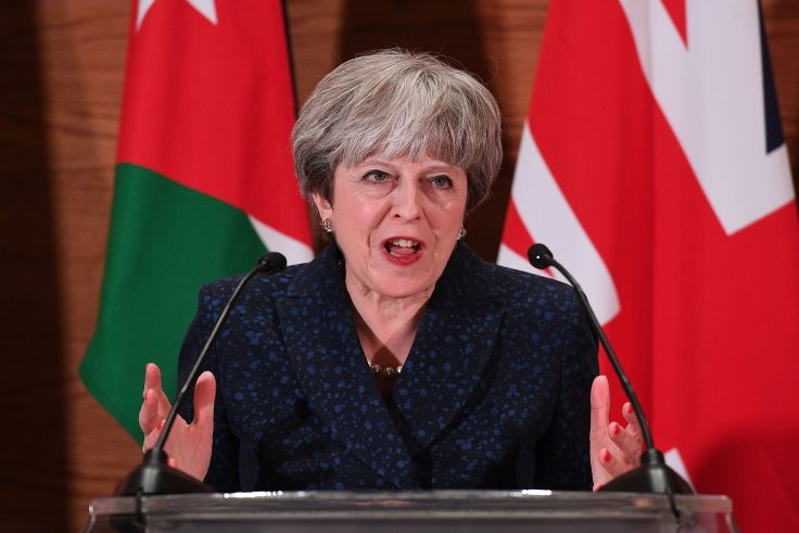 Theresa May in Jordan