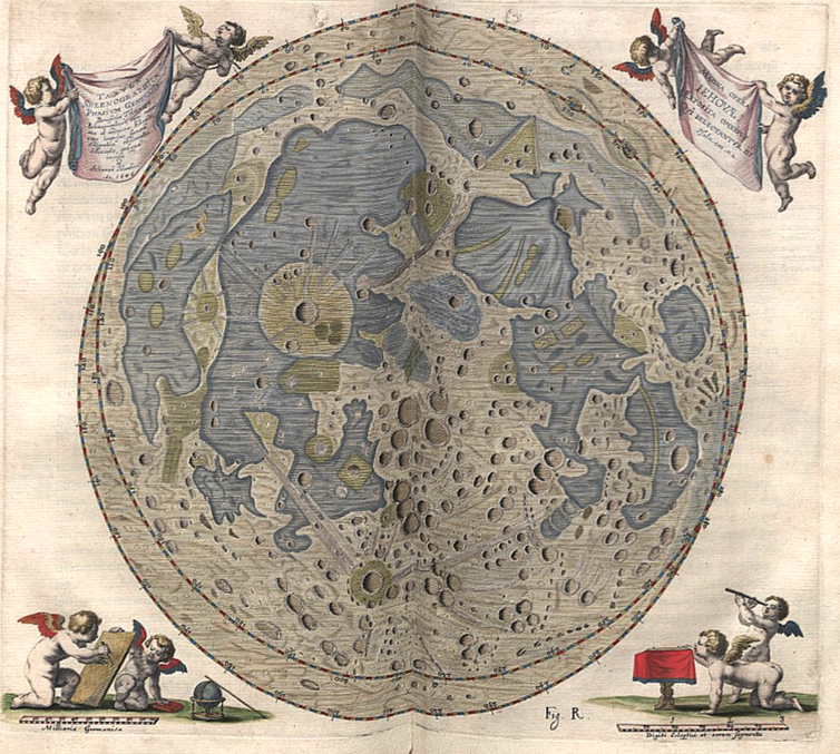 Old map of the moon