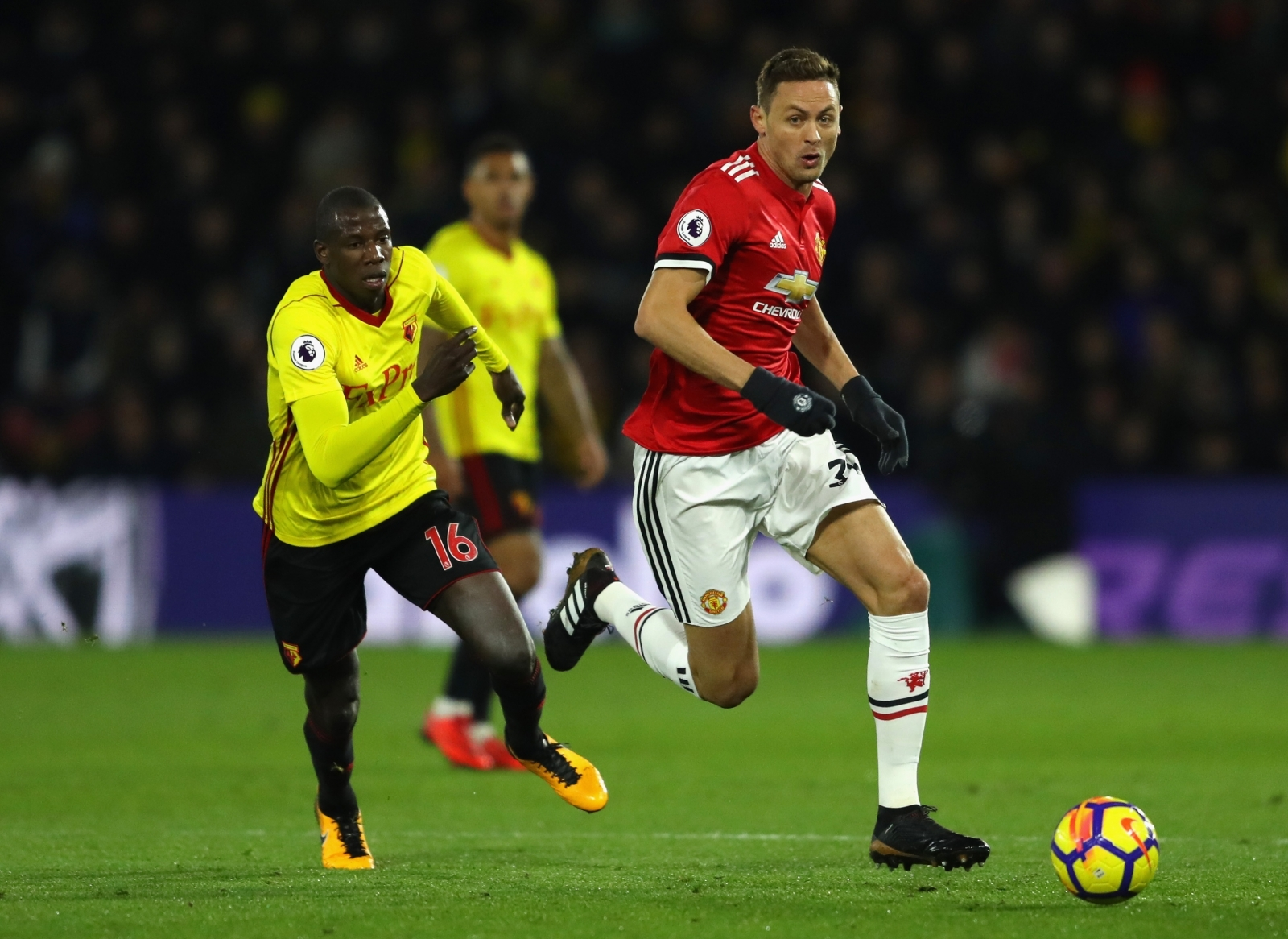Manchester United midfielder Nemanja Matic a doubt for Arsenal game