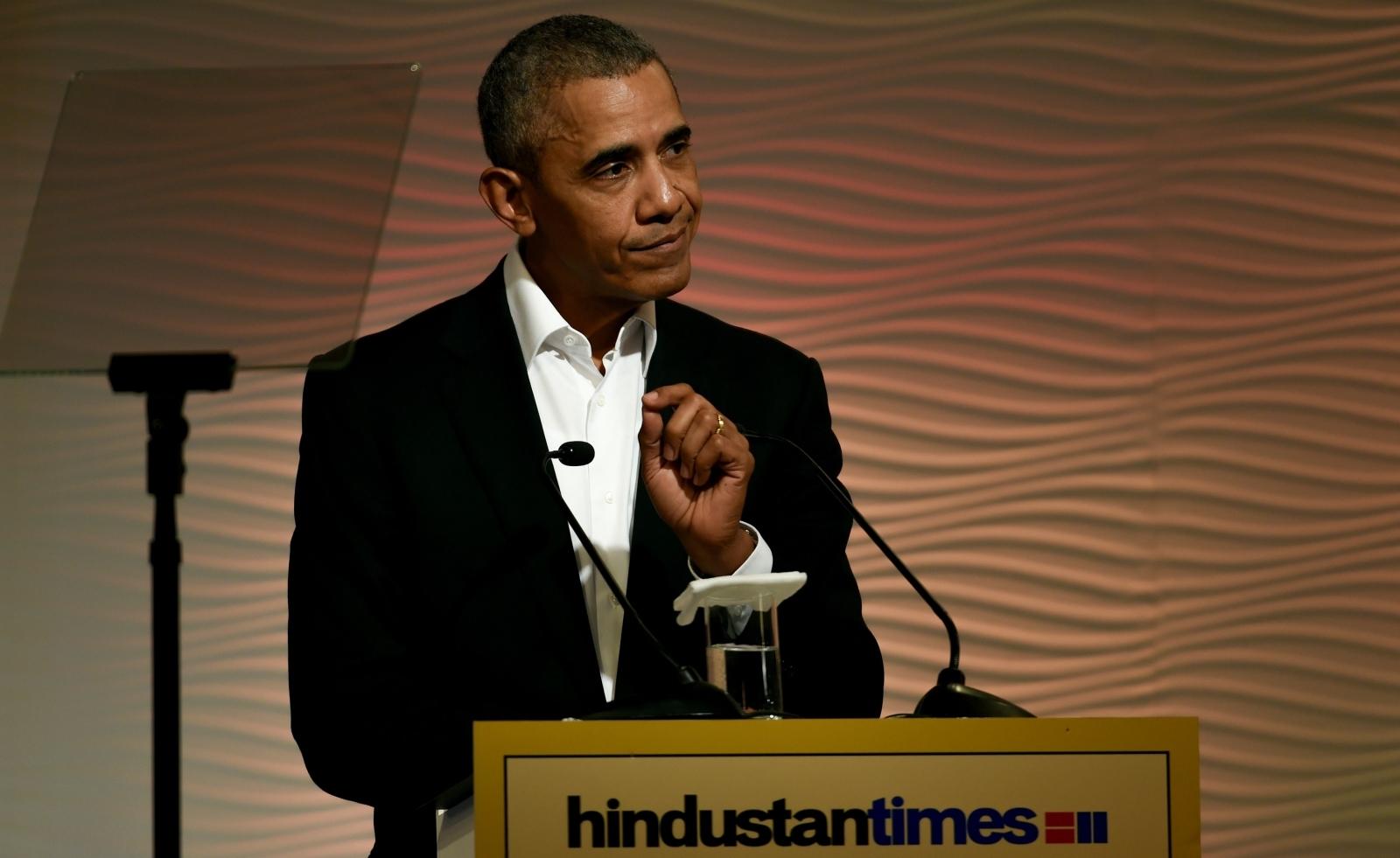 Former President Barack Obama in India