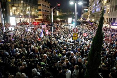 Israel Corruption Protest benjamin netanyahu
