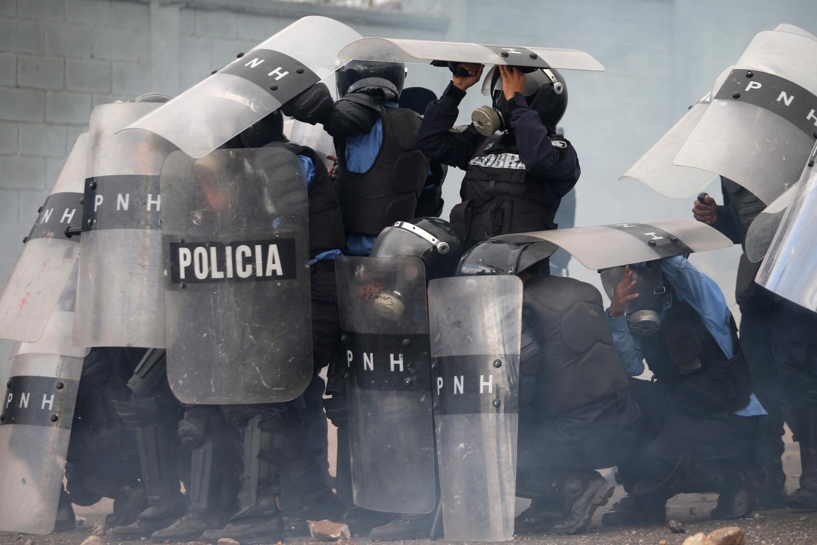 Honduras election protest