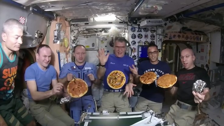 ISS Astronauts Display How To Construct A Pizza In Zero Gravity