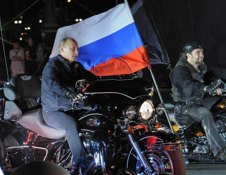 President Vladimir Putin calendar: with bikers by the Black Sea in June
