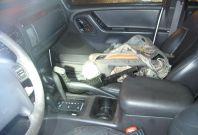 Guns were found in the suspect's Jeep
