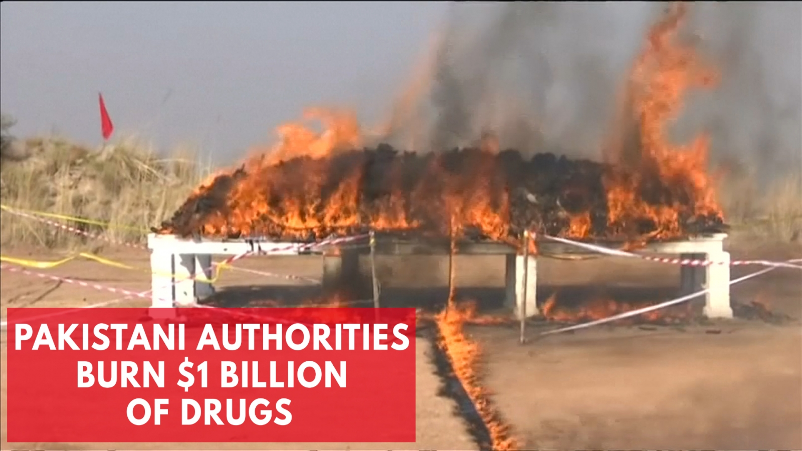 $1 Billion Of Drugs Burned By Pakistani Authorities