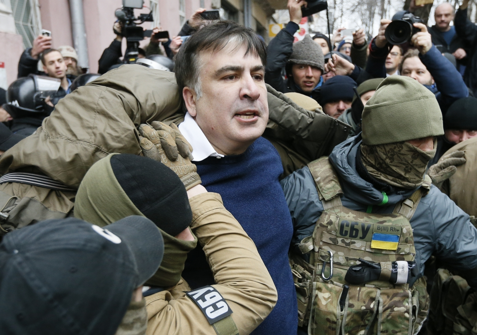 Ukrainian Security Arrests Saakashvili